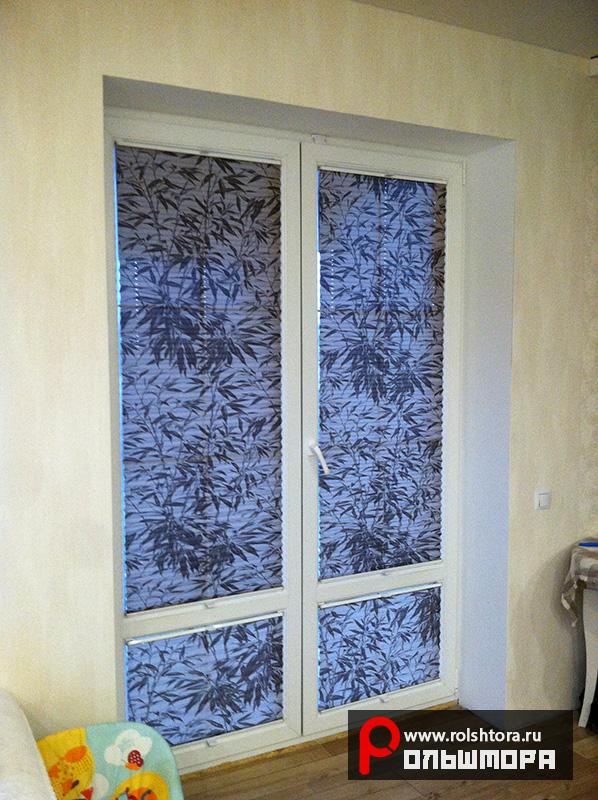 Наши работы - Шторы плиссе на двери